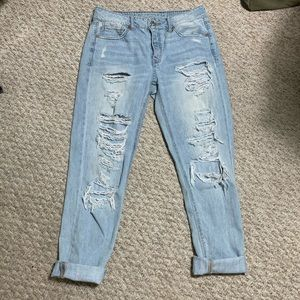 AEO distressed tomboy jeans